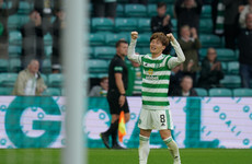 Japan's Furuhashi bags home-debut hat-trick as Celtic defeat Dundee 6-0