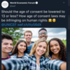 Debunked: No, the World Economic Forum did not suggest reducing the age of consent to 13