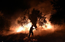 Hundreds of Greek firefighters battle to protect town from ferocious blaze