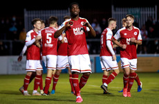 St Patrick's Athletic survive stern Waterford challenge to move level with Rovers