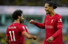 Mo Salah stars as Liverpool spoil Norwich's Premier League return