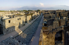 Pompeii archeologists have discovered a partially mummified skeleton