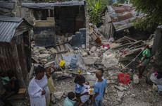 Haiti hit with tropical storm just two days after hundreds of people killed in earthquake