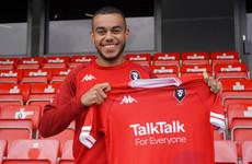 Ireland U21 winger Tyreik Wright joins Salford on loan from Aston Villa