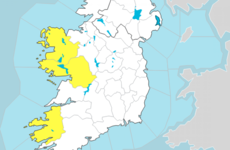 Met Éireann issues Status Yellow rain warning for three western counties for Friday