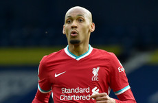Fabinho to miss Liverpool's clash with Burnley due to family bereavement