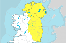 Status Yellow thunderstorm warning issued for 15 counties