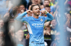 Jack Grealish scores first Manchester City goal in rout against Norwich