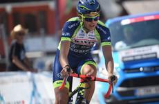 Eiking takes Vuelta lead as defending champion Roglic suffers fall