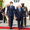 'France will remain a faithful friend': Macron meets President Higgins on first official visit