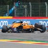 Norris escapes terrifying 185mph crash as Verstappen secures Belgian GP pole