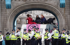 London's Tower Bridge blocked by Extinction Rebellion protesters
