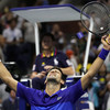 Djokovic tested but wins at US Open to advance Slam quest