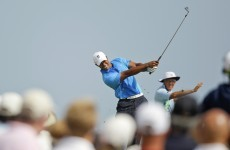 PGA Championship: Tiger moves to the front as Irish challenge fades