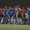 90th-minute equaliser, melee and red cards in dramatic finale between Derry City and Finn Harps