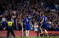 Lukaku scores first Stamford Bridge goals as Chelsea beat Villa