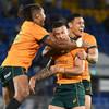 Quade Cooper the last-gasp hero as Australia topple the world champions