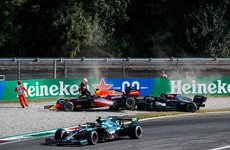 'I am grateful to be alive' says Lewis Hamilton after horror crash at Monza