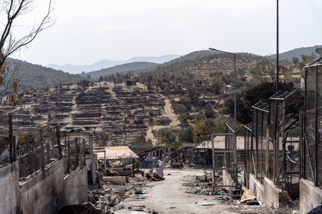 More than 12,000 people were left in emergency need of shelter after fires swept through the Moria camp on 9 September 2020