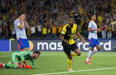 Young Boys strike late to hand 10-man Man United defeat in Champions League opener