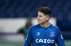 Out-of-favour James Rodriguez on cusp of Everton exit