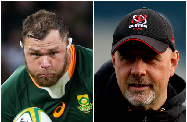 'Bryn stuck his head into my office and said what about Duane Vermeulen? I said: yes, please!'