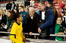 Lovely moment as 'world-class' Australia wonderkid reunited with Irish grandfather after friendly