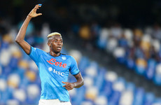 Osimhen on the double as Napoli surge back to top of Serie A