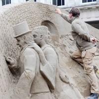 PHOTOS: Giant sand sculptures return to Dublin Castle
