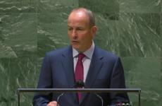Micheál Martin addresses UN General Assembly and talks peace and benefits of EU membership