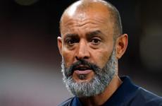 Nuno Espirito Santo accepts he 'didn't make right decisions' in derby defeat by Arsenal