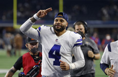 Emotional Prescott stars for NFL's Dallas in first home game since injury