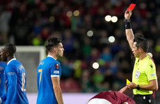 Glen Kamara booed by crowd before being sent off as Rangers lose at Sparta