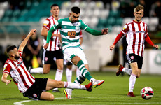 Shamrock Rovers maintain nine-point lead at the top after hard-fought win over Derry City