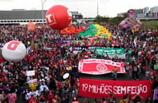Protesters fill streets across Brazil to demand impeachment of president