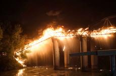 Fire damages historic bridge in Rome