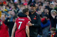 Klopp says Liverpool 'didn't change anything' at half-time, while Guardiola fumes at Milner non-yellow
