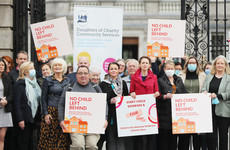 Childcare providers hold Dáil protest over children 'falling through the cracks'