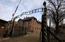Graffiti in English and German found on Auschwitz barracks