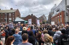 Protest in Dublin over planned developments at Cobblestone pub and Merchant's Arch
