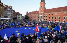 Poles rally to defend EU membership