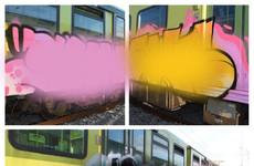 Three men arrested over graffiti damage of train at Dublin station