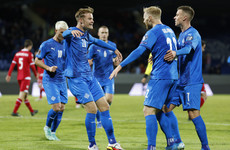 Eidur Gudjohnsen's two sons combine for Iceland goal in front of their father