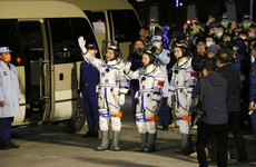 Three Chinese astronauts arrive at space station for six-month mission