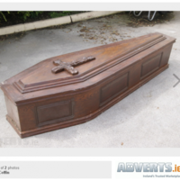 Coffin for sale... and it's only been used once