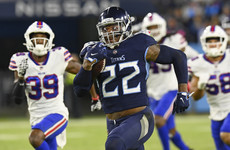 Henry scores three rushing touchdowns as Titans hold firm against Bills