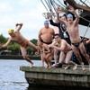 In photos: Limbering up for the Liffey Swim