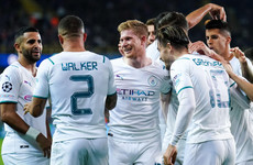 Man City crush Brugge to re-energise Champions League push