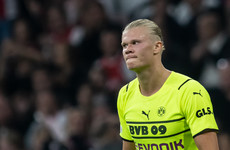 Haaland out for 'several weeks' with hip injury, Dortmund confirm