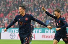 Lewandowski scores to keep Bayern Munich top of Bundesliga, while Bellingham scores stunner